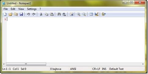 Slika 1. Izgled programa Notepad2
